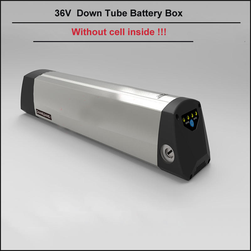 Down tube aluminum e bike battery shell for v