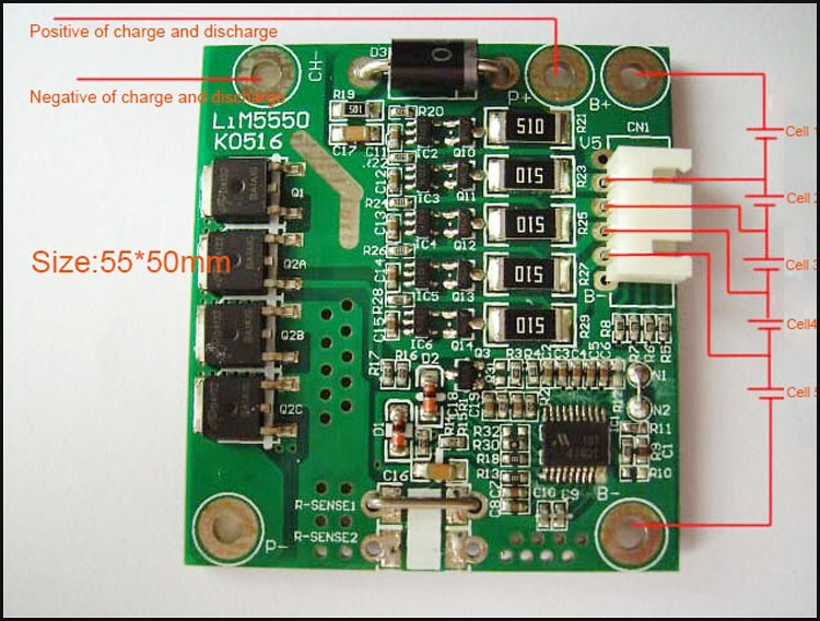 5S 18V and    21V    lithium ion battery protection circuit