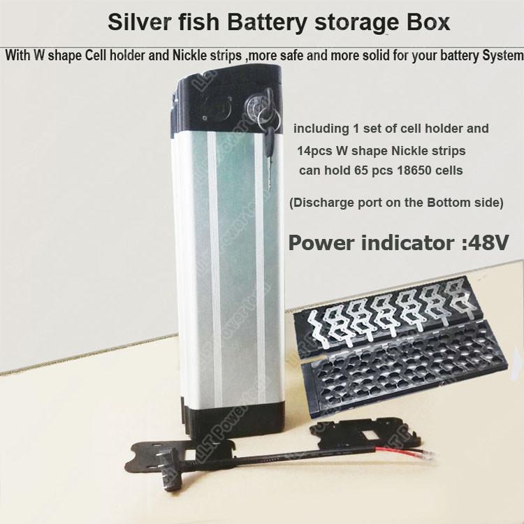 Bottom Discharge  sc 1 st  llt power electronic & 48V Silver fish e-bike li-ion battery storage box and bicycle ... Aboutintivar.Com