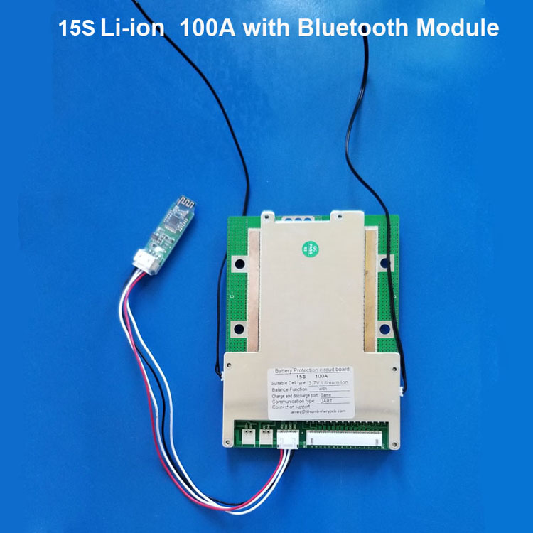 10S 11S 12S 13S 14S 15S 36V 48V 60V BMS with Bluetooth and PC communication  APP PCB board of electric bike