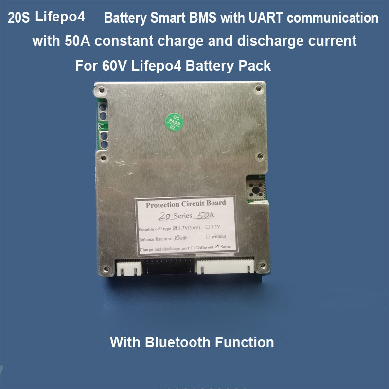 16S 17S 18S 19S 20S Smart BMS with bluetooth function for Lithium ion or  Lifepo4 Battery 20A ,30A 50A current