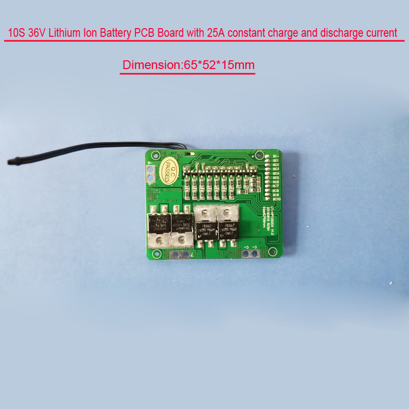 10S 42V Li-ion battery PCB board with 20A or 25A constant discharge current  for small electric kit of less than 250W