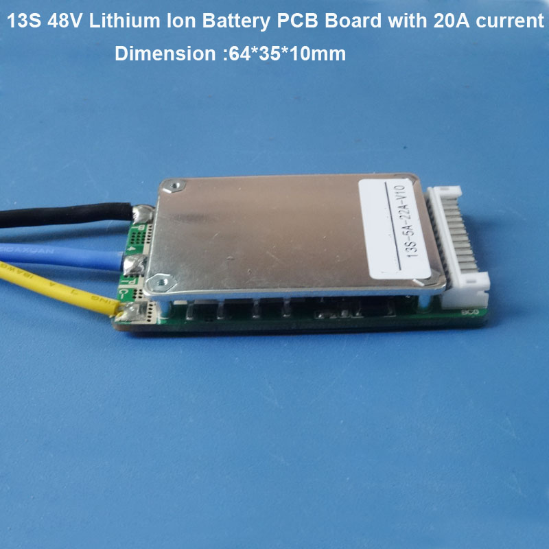 24v 36V 42V Lithium Ion battery PCB board with 15A constant discharge  current for small electric kit of less than 250W