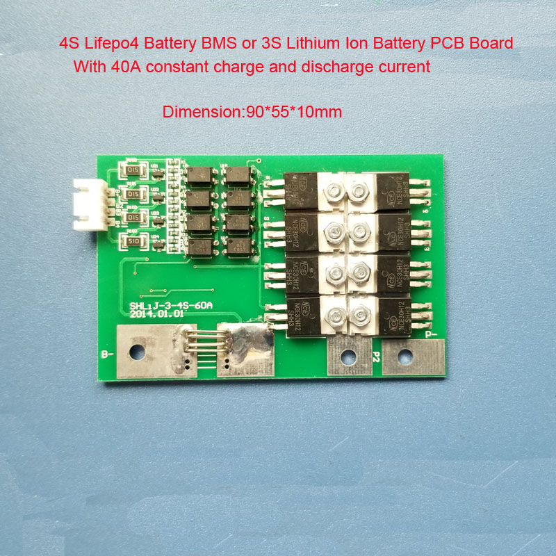 4S Lifepo4 Battery BMS with 40A constant current