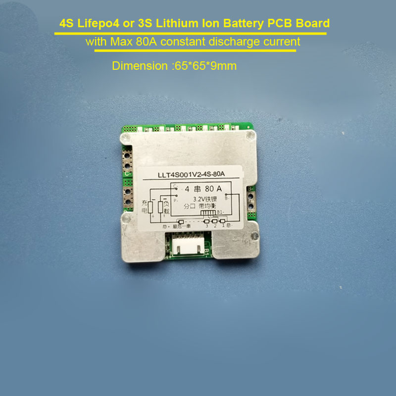 4S Lithium ion 12V or Lifepo4 Battery converter BMS