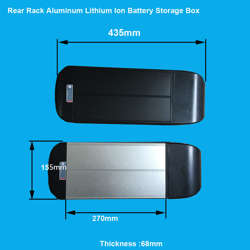 rear rack bike battery storage box and case of dolphin type