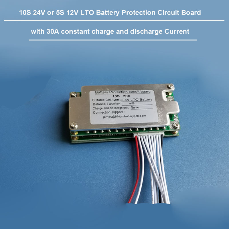 12v 5S LTO Battery PCB Board ,24V 10S LTO Battery BMS  Lithium TItanate oxide Battery PCB