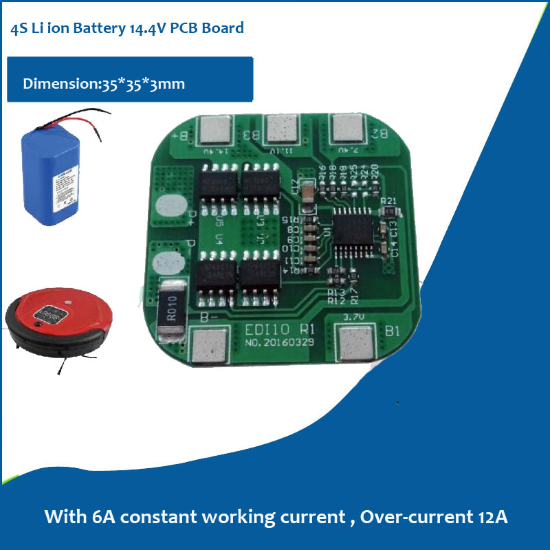 4S Lithium Ion Battery PCB for 16.8V Li ion Battery Application