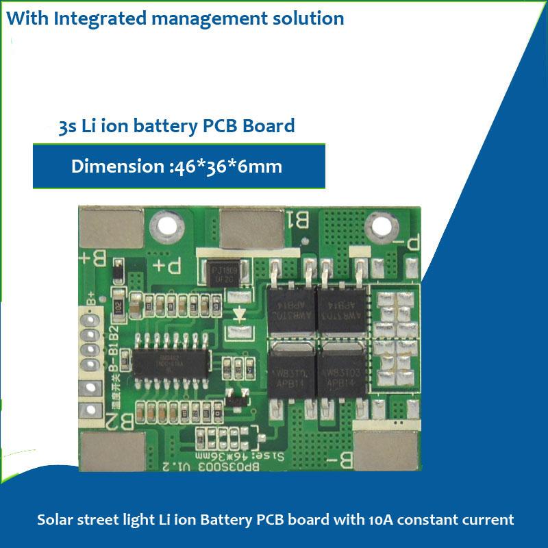 3s li ion 12 6v battery pcb for 11 1v 18650 or lipo cell of solar
