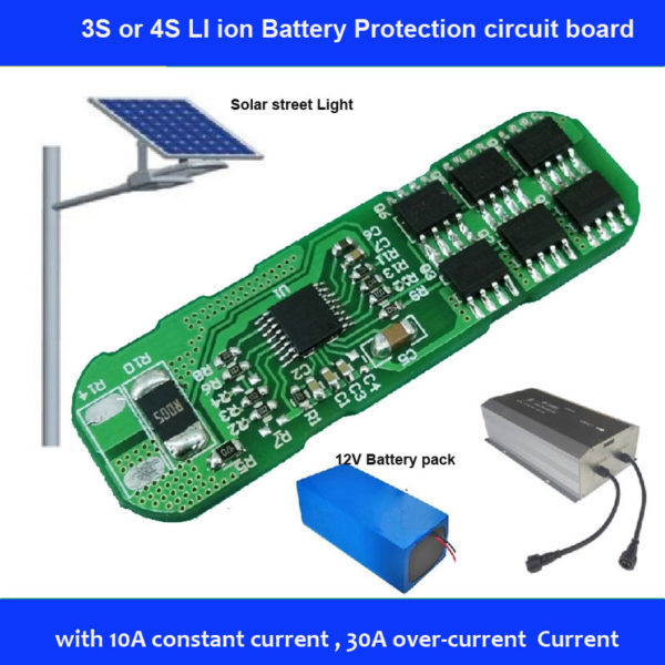 3s or 4s li ion battery pcb board for sloar street light lithium