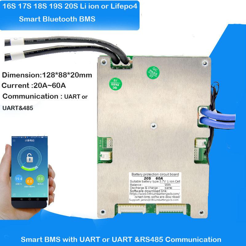 Smart Bluetooth BMS 16S 20S